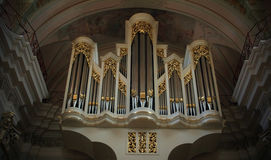Minsk � October 6: Great organ in the cathedral, Cathedral of Royalty Free Stock Photo