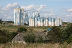 Minsk. City suburb - august 2009 Stock Photography