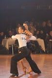 Minsk - 15. Januar: Tanzpaare, lateinisch Lizenzfreie Stockbilder