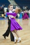 Minsk - 19 maggio: Coppie di ballo della gioventù Fotografia Stock Libera da Diritti