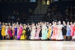 Minsk - 19 maggio: Il ballo coppia il giovane Fotografia Stock Libera da Diritti
