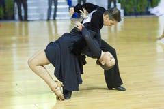 MINSK, 21 OTTOBRE: Coppie giovanili di ballo Fotografia Stock Libera da Diritti