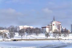 minsk Ansicht des Parks Starostinskaya Sloboda Bank von Moskau Stockbilder