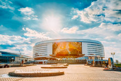 Minsk Arena In Belarus. Ice Hockey Stadium. Venue For 2014 World Royalty Free Stock Image