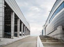 Minsk-arena - moderna byggnader Arkivfoto