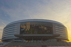 Minsk-Arena Sport Complex. Was Built for Carrying Out World Ice- Stock Photo