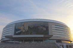 Minsk-Arena Sport Complex. Was Built for Carrying Out World Ice- Royalty Free Stock Images