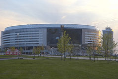 Minsk-Arena Sport Complex. Was Built for Carrying Out World Ice- Royalty Free Stock Photos