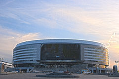 Minsk, Bealarus - April, 26: Minsk-Arena Ice-Hockey Sport Comple Royalty Free Stock Photos
