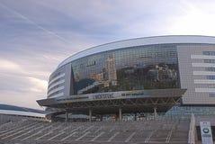 Minsk, Bealarus - April, 26: Minsk-arena Ijshockeysport Comple Royalty-vrije Stock Afbeeldingen