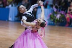 Minsk, Belarus �February 14, 2015: Baboshin Anton and Milovido Royalty Free Stock Photos