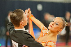 MINSK-BELARUS, 4 MARS : Couples d'adolescent de danse Photo libre de droits