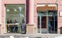 Minsk, Belarus, April 20, 2018: Lavazza coffe shop in Minsk City Royalty Free Stock Image