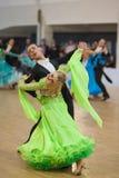 MINSK-BELARUS, APRIL, 7: Nicht identifiziertes Tanzpaar führt Adul durch Lizenzfreie Stockfotos