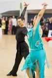 MINSK-BELARUS, APRIL, 7: Nicht identifiziertes Tanzpaar führt ADUL durch Stockfotos