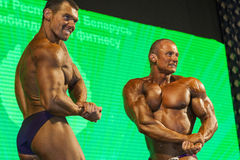 Minsk-Belarus, April, 26: Professional Bodybuilders Performing o Stock Photography