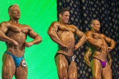 Minsk-Belarus, April, 26: Professional Bodybuilders Performing o Royalty Free Stock Photo