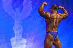 Minsk-Belarus, April, 26: Professional Male Caucasian Bodybuilde Stock Photo