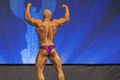 Minsk-Belarus, April, 26: Professional Male Caucasian Bodybuilde Royalty Free Stock Photos