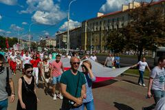 Peaceful protests in Belarus.
