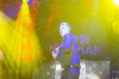 World Famous British Pop-Singer John Newman Performing at A-Fest Music Festival. Minsk, Belarus-August 12, 2017: World Famous British Pop-Singer John Newman Stock Photos