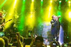 World Famous British Pop-Singer John Newman Performing at A-Fest Music Festival. Minsk, Belarus-August 12, 2017: World Famous British Pop-Singer John Newman Royalty Free Stock Image