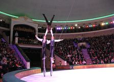 MINSK, BELARUS, BELORUSSIAN STATE CIRCUS, 2012 Royalty Free Stock Photos