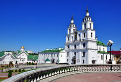 Minsk, Belarus. Cathedral square in Minsk, Belarus royalty free stock image