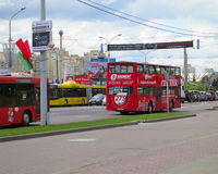 Minsk , Belarus. Central Avenue - Stock Photos Royalty Free Stock Images
