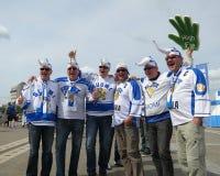 Minsk Belarus : Championnat 2014 du monde de hockey sur glace Photographie stock libre de droits