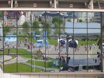 Minsk Belarus : Championnat 2014 du monde de hockey sur glace Images libres de droits