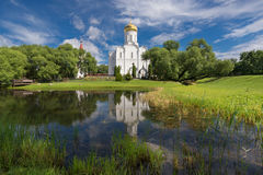 Minsk, Belarus. Church of the Intercession of the Theotokos (Holy Protection Orthodox Parish), Scenic View At View At. Sunny Day.Holy Protection stock photography