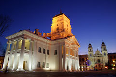 Minsk, Belarus. City hall in Minsk at evening Stock Images