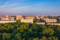 Minsk (Belarus) City Quarter With Green Parks Under Blue Sky Royalty Free Stock Photo