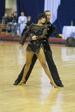 MINSK-BELARUS FEBRUARI, 17: Den Unidentified dansen kopplar ihop utför Royaltyfria Bilder