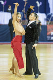 MINSK-BELARUS, FEBRUARY, 17: Unidentified Dance couple performs Stock Image
