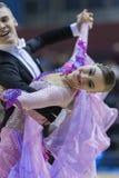 MINSK-BELARUS, FEBRUARY, 9: Matvey Smirnov-Dariya Prokopenko per Royalty Free Stock Image