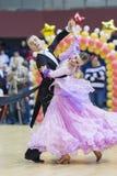 MINSK-BELARUS, FEBRUARY, 9: Matvey Smirnov-Dariya Prokopenko per Royalty Free Stock Photo