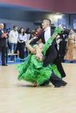 Minsk-Belarus, February, 23: Aleksei Yushkevich �Anastasiya Ap Stock Images