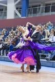 Minsk-Belarus, February, 23: Andrei Kitsun- Nataliya Korsak Perf Royalty Free Stock Photography