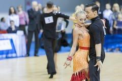 MINSK-BELARUS, FEBRUARY, 9: Egor Kosyakov- Anastasiya Belmach Pe Royalty Free Stock Images