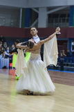 Minsk-Belarus, February, 23: Igor Zimnitskiy- Karina Soiko Perfo Royalty Free Stock Images