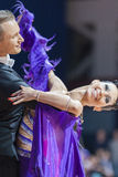 Minsk, Belarus-February 15, 2015: Kazyra Artsem and Veslova Anas Royalty Free Stock Photo