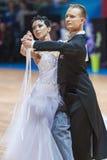 Minsk, Belarus-February 15, 2015: Kazyra Artsem and Veslova Anas Royalty Free Stock Image