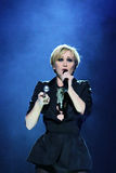 MINSK, BELARUS - FEBRUARY 13: Patricia Kaas performs live on February 13, 2010 in Minsk, Belarus. Patricia Kaas performs live on February 13, 2010 in Minsk Stock Image