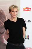 MINSK, BELARUS - FEBRUARY 13: Patricia Kaas at the press conference on February 13, 2010 in Minsk, Belarus Stock Photography