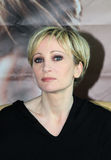 MINSK, BELARUS - FEBRUARY 13: Patricia Kaas at the press conference on February 13, 2010 in Minsk, Belarus Stock Photos