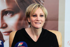 MINSK, BELARUS - FEBRUARY 13: Patricia Kaas at the press conference on February 13, 2010 in Minsk, Belarus Royalty Free Stock Photography