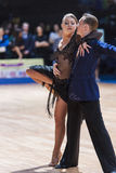 Minsk, Belarus-February 14,2015: Professional Dance Couple of Ch Royalty Free Stock Photo