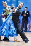 Minsk, Belarus-February 14, 2015: Professional Dance Couple of D Royalty Free Stock Photos